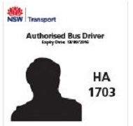 Example of bus driver identification: HA 1703